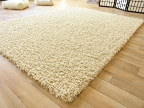 Good Price Carpet Super Soft Modern Shag Area Silky Smooth Rugs Fluffy Rugs Anti-Skid Shaggy Area Rug,Bedroom Carpet Square 4X4 -Ivory