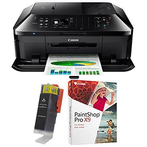 Canon PIXMA MX922 Wireless Inkjet Office All-In-One Printer with PGI-250XL Cartridge, Black + PaintShop Pro X8 Bundle
