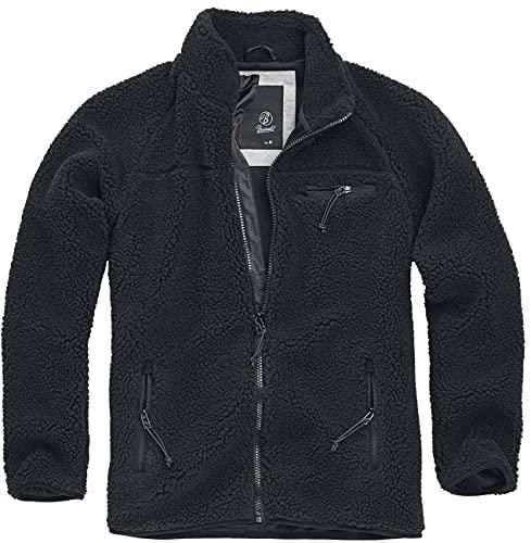 Brandit Teddyfleece Jacket, schwarz, Größe L