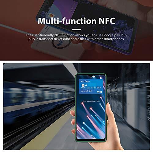 Smartphone Débloqué 4G, Backview®A80 Plus(2021),Ecran 6,49 Pouces, 4Go+64Go Dual SIM Téléphone Portable, Quatre Caméras, Batterie 4680mAh,Android 10.0, NFC GPS Type C, Face ID, Fingerprint