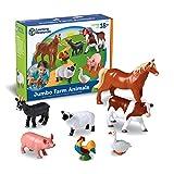 Learning Resources- Animales de Granja Jumbo, Color (LER0694)