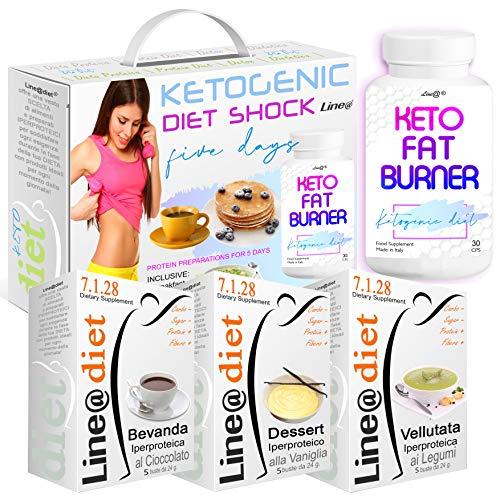 KETOGENIC Diet Shock | D-KETO B | con all'interno il POTENTE KETO Fat Burner Line@ | DIETA URTO per 5 GIORNI | PERDI PESO VELOCE !