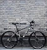 Fitness Deportes al aire libre Tail suave Bicicleta de montaña plegable Doble freno de disco / Bicicleta de cuadro de acero con alto contenido de carbono Off-Road Playa Moto de nieve Bicicleta Rued
