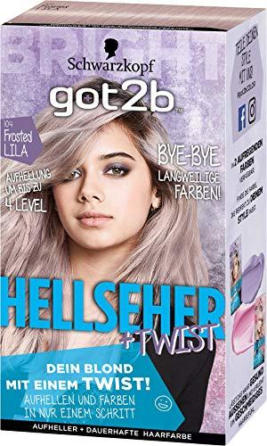 Schwarzkopf Got2b Hellseher Haarfarbe, 104 Frosted Lila, 3er Pack (3 x 143 ml)