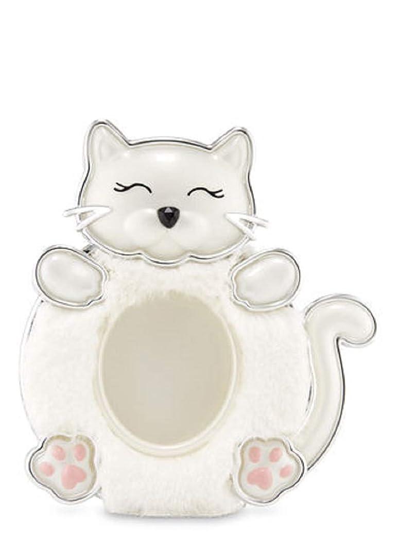 以来有彩色のジャンクション【Bath&Body Works/バス&ボディワークス】 クリップ式芳香剤 セントポータブル ホルダー (本体ケースのみ) 白猫 Scentportable Holder Fuzzy Kitty [並行輸入品]