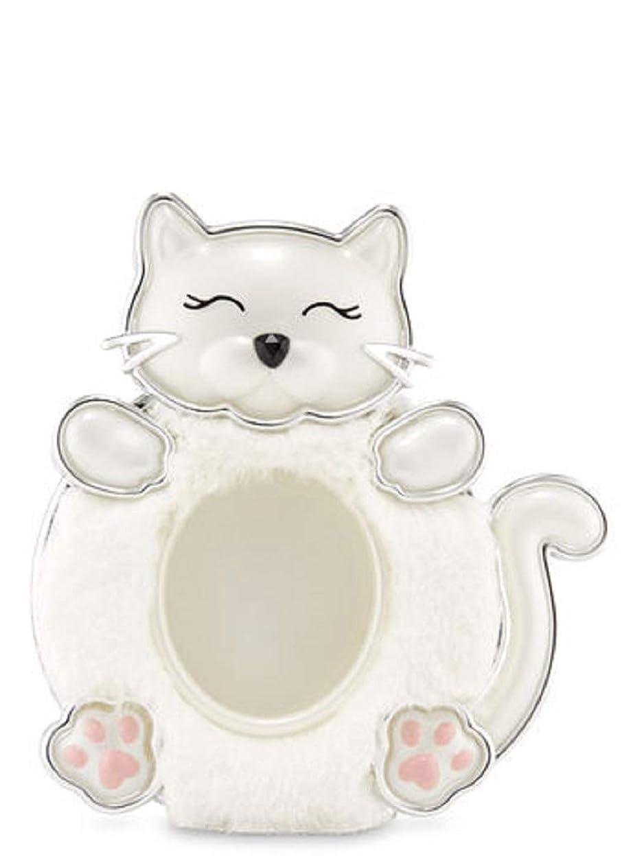 望みビルダー変形【Bath&Body Works/バス&ボディワークス】 クリップ式芳香剤 セントポータブル ホルダー (本体ケースのみ) 白猫 Scentportable Holder Fuzzy Kitty [並行輸入品]