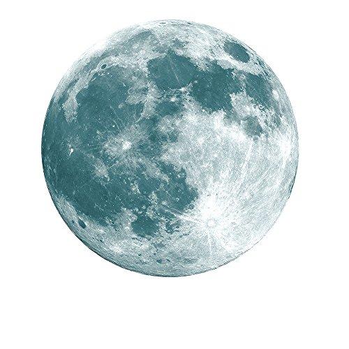 Zegeey 3D Große Mond Fluoreszierende Wandaufkleber Removable Home Decor Glow In The Dark Aufkleber 30 cm Diamete
