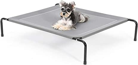SUPERJARE Elevated Dog Bed, Portable Raised Pet Cot for Camping or Beach, Durable Frame and Mesh, Indoor or Outdoor Use