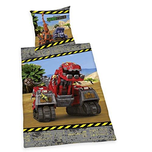 Herding Dinotrux Bettwäsche, Baumwolle, bunt, 135x200x2 cm, 2-Einheiten