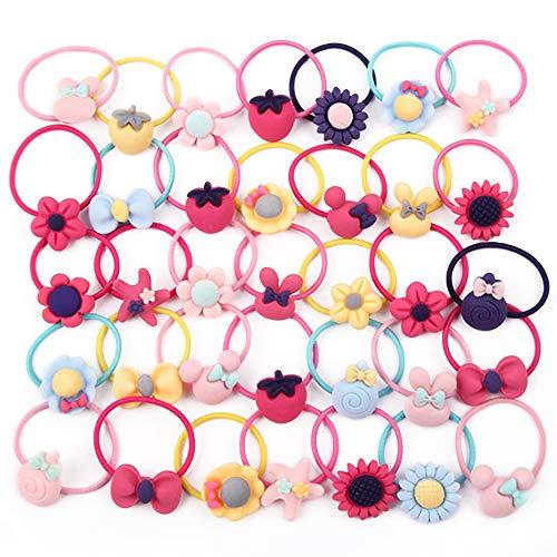 Hair Ties for Girls, Little Girls' Small Hair Ropes, Elastic Hair Tie Toddler Set for Girls (40PCS)