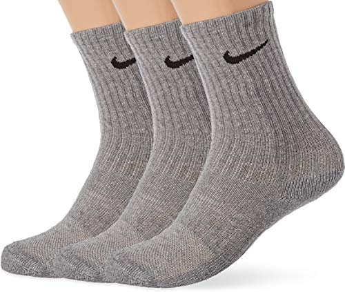 Nike Performance Cushioned Crew, Calcetines Unisex Niños, Gris (Dark Grey Heather/Black), S (34-38 EU)
