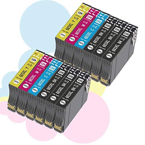 Ouguan - Cartucho de Tinta de Repuesto para Epson 603XL 603 para Epson XP-3100 XP-4100 XP-2100 XP-2105 XP-3105 XP-4105 WF-2810 WF-2830 WF-2835 WF-2850-6Nero, 2 Cian, 2 Magenta, 2 Amarillo