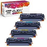 ejet Kompatibel Tonerkartusche als Ersatz für HP 410A CF410A Color Laserjet Pro M477fdw M477fnw M477fdn M452nw M377dw M452dn M452dw Drucker (Schwarz Cyan Magenta Gelb, 4er-Pack)