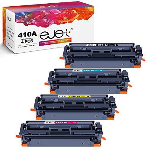 ejet Cartuccia toner compatibile per HP 410A 410X CF410A CF410X per HP Color LaserJet Pro M477fdw M477fnw M477fdn M452nw M377dw M452dn M452dw Stampante (Nero/Ciano/Magenta/Giallo)