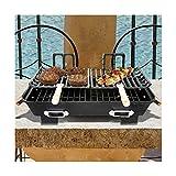 Cast Iron Hibachi Tabletop Charcoal BBQ Grill • AmaCart LLC