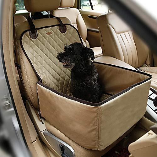Coprisedile Impermeabile Copertura Anteriore Auto per Proteggere Sedile di Automobile Antiscivolo per Cani Gatti Animali Domestici Beige
