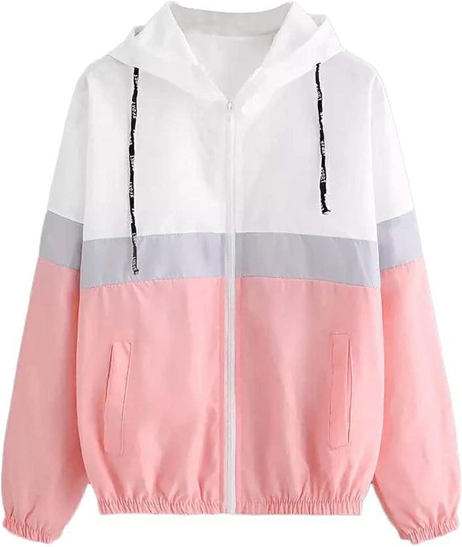 Womens Elastic Band Waist Hooded Jacket Casual Loose Sweatshirt Workout Hoodie Sweater Zipper Open Cardigan