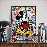 asfrata265 Minnie Mickey Mouse Cartoon Aquarell Retro Kunst