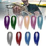 Atado de Moscas con Flash de Cristal de Larga Vida Duradera, Herramientas de Pesca, 1000 Piezas de Pesca en el mar para Pesca Salvaje(Fly Color Silk Thread)