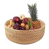 Cesti portaoggetti Cestino di cesto di vimini naturale, salotto fatto a mano spuntino snack ciotola di frutta ciotola vegetale cestino di vimini vimini vassoio picnic cibo o la camera da letto, soggio