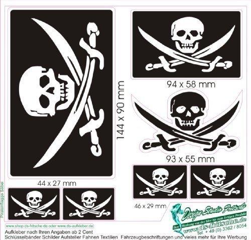 Aufkleber Set Pirat Säbel