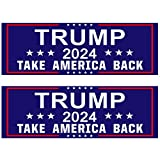 Shmbada 2 PCS Donald Trump 2024 Take America Back Vinyl Stickers Waterproof Decal for Car, Trucks, Bumper, Window, Jet Ski, Laptop, Helmet, 3 x 10 Inch, Set of 2