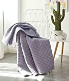 Antique Chic Reversible Quilted Throw Blankets 79' x 91' Gray