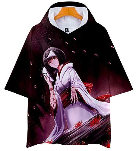 QYIFIRST Anime Nora - Camiseta 3D de manga corta con capucha para disfraz de cosplay, color lila, talla S (pecho 108 cm)