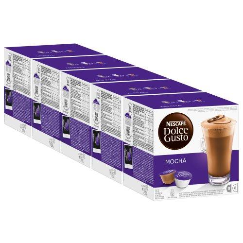 Nescafé Dolce Gusto Mocha, 5er Pack, 5 x 16 Kapseln (40 Portionen)