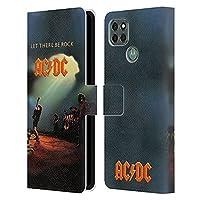 Head Case Designs オフィシャル ライセンス商品 AC/DC ACDC レット・ゼア・ビー・ロック アルバムカバー Motorola Moto G9 Power 専用レザーブックウォレット カバーケース