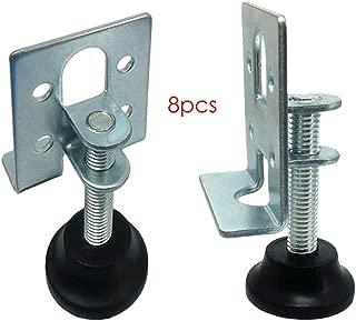 Hyever Furniture Legs Leveler Metal Adjustable Workbench Leveling Feet 2.1 Inch Pack of 8