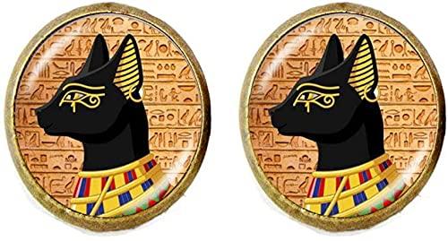 Pendientes de Dioses de Gato Egipto Antiguo Egipto Joyería Arte Fotografía Joyería Regalo de Cumpleaños