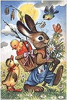 大人のためのジグソーパズル2000ピース 漫画かわいいウサギ ジグソーパズル 大人と子供のためのジグソーパズル、教育的な知的減圧パズルゲーム 100x70cm
