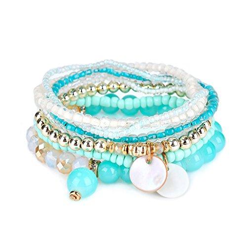 Kimruida Böhmischen Stil Acryl Multilayer Perlen Armband Armreif Frauen Modeschmuck