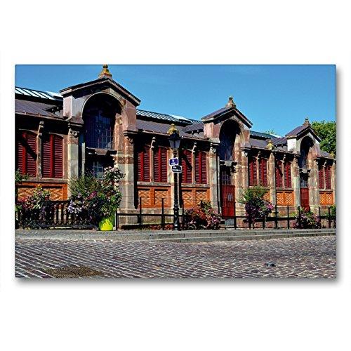 CALVENDO Premium Textil-Leinwand 90 x 60 cm Quer-Format Covered Markt von Colmar, Leinwanddruck von Ulrike Kröll