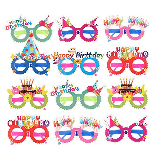 Party Papier Brillen, Birthday Party Brille, Party Brillenfassungen, Kinder Geburtstag Party Brille, Party Gläser Rahmen, Geburtstag Brille Fotografie Requisiten für Kinder (Zufällige Farbe)