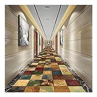 MDCG 長方形カーペットアイルブレンド調整可能なカスタマイズ玄関エリア敷物ランナー (Color : A, Size : 120x400cm)