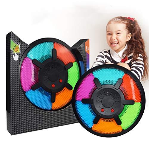 Deeabo Gedächtnistraining Spiel Sechs Raster Elektronische Trommel Memory Spiel,Kinder Intelligente Elektronische Memory Spiel mit Musik Licht pädagogisches Geschenk Desktop Herausforderung Spielzeug