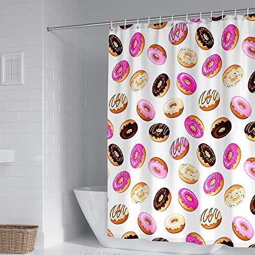 Duschvorhänge Donutbrot Buntes Dessert Warme Schokolade Duschvorhang für Dusche & Badewanne