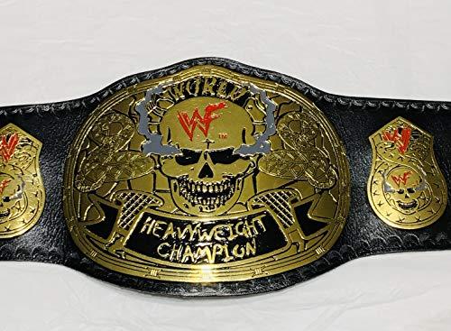 Cuircon WWF Stone Cold Smoking Skull Championship Leather Belt Replica 4mm Zinc Metal Plated