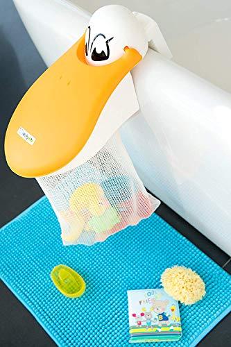 KidsKit Bath Toy Organizer | Bath Toy Holder Featuring A Pelican with A Bath Toy...