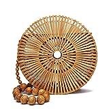 flyaway Vintga - Bolsas de bambú para mujer, de verano, de paja, de...