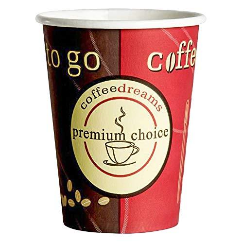 1-PACK Kaffeebecher Coffee ToGo COFFEE DREAMS Pappe beschichtet 8oz. 200 ml, 100 Stück