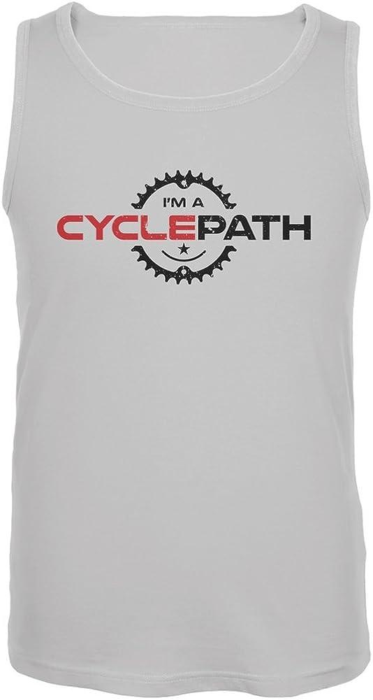 Old Glory Biking I'm A Cyclepath White Adult Tank Top
