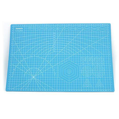 ANCLLO Estera de grabado de goma para manualidades, tamaño A3, para costura, scrapbooking, tela y Papercraft, color azul