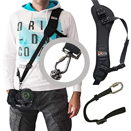 Ocim Camera Shoulder Strap with Quick Release & Safety Strap, Adjustable Camera Sling Straps for Nikon, Canon, Sony DSLR Camera