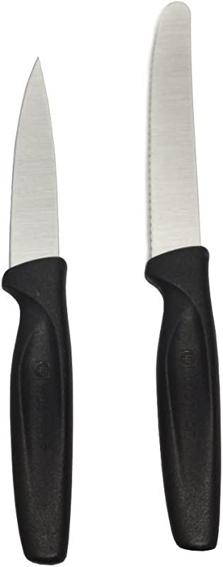 Wusthof Black Carbon Steel 2 Piece Paring And Serrated Knife Set