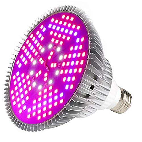 100W Led Grow Light Bulb Full Spectrum,Plant Light Bulb with 150 LEDs for Indoor Plants,E26/E27 Socket,Grow Lamp for Hydroponic Indoor Garden Greenhouse Succulent Veg Flower