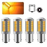 4 X 1156BA15S P21W LED Ampoule Ambre Jaune Super Bright Ampoule 6000K 5630 33 SMD Voiture Avant et Arrière Clignotant 12-30V