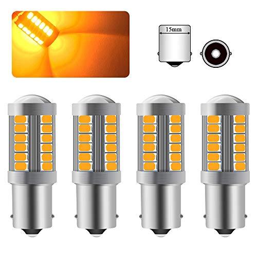 4pezzi 1156 BA15S P21W Auto LED Lampadine Giallo Ambra Super Luminosa Le Luci Del Segnale 6000K 5630 33 SMD Anteriore e Posteriore Indicatore Luminoso 12-30V